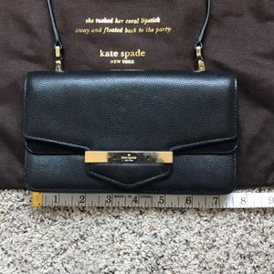 Kate Spade clutch with removable crossbody strap
